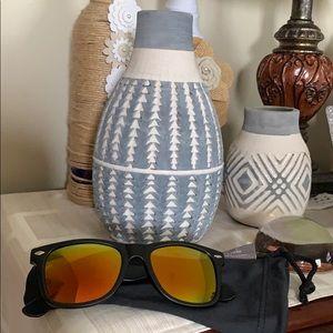 Orange mirrored sunglasses, nwot